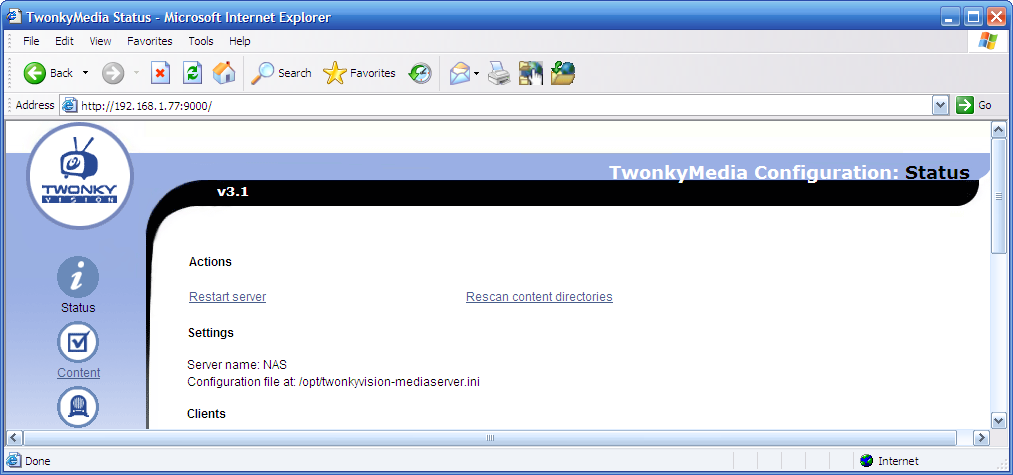 Installing TwonkyMedia 3 1 on an NSLU2 / Hard Drive Installation